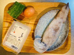 イカのゴーヤチャンプルー材料